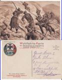Carpati- Tipuri, militari rusi  - militara, WWI, WK1- Rara, Circulata, Printata