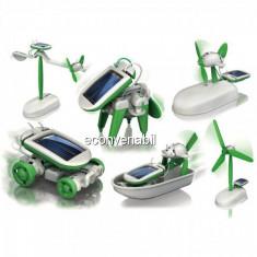Joc Educativ Copii Kit Constructie Robot Solar 6in1