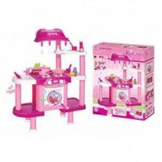 Bucatarie de jucarie roz accesorii incluse, sunete si lumini 832ROZ