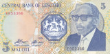 Bancnota Lesotho 5 Maloti 1989 - P10 UNC
