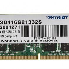 Memorie Sodimm PATRIOT 16Gb DDR4 2133Mhz PC4-2133, cl15 volti 1.2V- Ram laptop