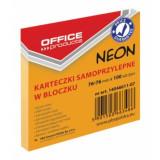 Cumpara ieftin Notite Adezive OFFICE Products, 76x76 mm, 100 File, 70 g/m², Culoare Portocaliu Neon, Notes-uri, Post-it, Articole Hartie, Accesorii Birou