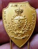 I.199 INSIGNA MILITARA CARABINIERI ACCADEMIA MODENA MAKTT 100 A.N. XII h27mm