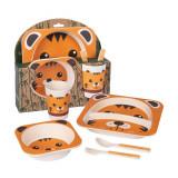 Set de masa din bambus - Tigru (5 piese)