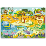 Puzzle Animale din Africa, 18 piese, 2 ani+, Dodo