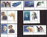 ROMANIA 2007, Fauna polara cu vinieta, MNH, Nestampilat