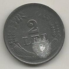 ROMANIA  MIHAI I - 2  LEI  1941  [7]   livrare in cartonas