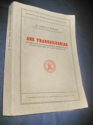 1384-Coriolan Petranu-Ars Transilvaniae-1944 lb germana. Carte veche Romania. foto