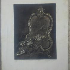Oglinda ca sita a autoexpresiei// gravura Magda Isacescu