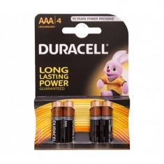 Baterie Alcalina Duracell AAA LR03 Duralock Set 4 Baterii