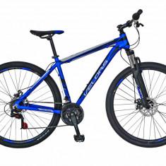 Bicicleta MTB HT 29 FIVE Hunter cadru aluminiu culoare albastru alb