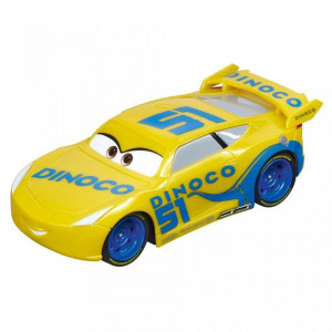 Circuit electric masinute Lightning McQueen si Dinoco Cruz Ramirez Radiator Springs Carrera Go 5,3 m
