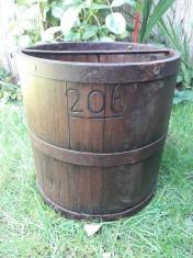 Masura 20 litri banita feldera lemn veche foto