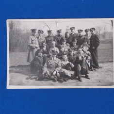 FOTOGRAFIE TIP CARTE POSTALA , MILITARI , LA SOSEA , BUCURESTI , 1933