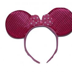 Cordeluta pentru fetite cu urechi de Minnie-Midex E5366-F, Fucsia