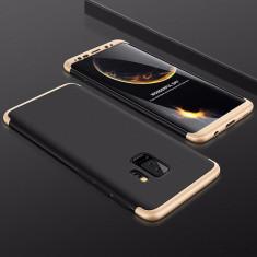 Husa Samsung Galaxy S9 Plus - GKK Protectie 360 Grade Neagra cu Auriu