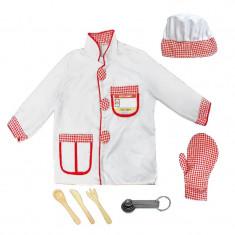 Costum pentru copii Chef, accesorii incluse, 3 ani+