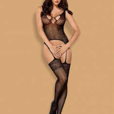 Bodystocking Catsuit, Negru S/M/L