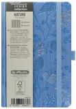 Cumpara ieftin Bloc Notes Ivory Nature, 192 pagini, patratele, coperta PU, bleu, motiv Robin