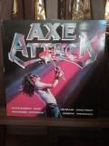 VINIL 12'' LP V/A: Axe Attack 1980 Motorhead Judas Priest Iron Maiden Scorpions