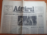 Ziarul adevarul 3 mai 1990 - campanie impotriva campaniei electorale
