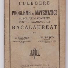 Nazarie, Pasco - Probleme de Matematici, 1934