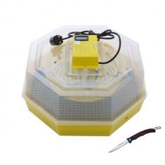Incubator electric pentru oua cu termometru Cleo model 5T briceag cadou