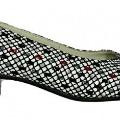 Pantofi dama din piele multicolora Ninna Art 234