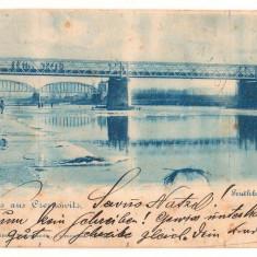 SV * BUCOVINA  *  CERNAUTI  *  PODUL PESTE RAUL PRUT  *  LITHO  *  1898