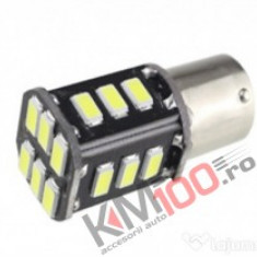 Bec LED BA15S 18SMD 5730 12V ALBA COD: PT191