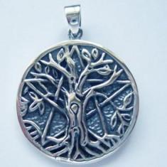 Pandantiv argint Copacul Vietii pe pentagrama