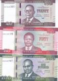 Bancnota Liberia 20, 50 si 100 Dolari 2017 - P33b-35b UNC ( set x3 )