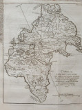 """""""Carte de l'ancien Continent"""" - tiparita in 1749 (originala!)"""