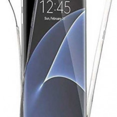 Protectie Spate Senno Pure Flex Slim 360 SNNM-360-FULL-TPU-SAS7-CL pentru Samsung S7 + Protectie Fata (Transparent)