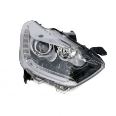 Far Citroen DS5, 09.2011-, partea Dreapta, electric, cu lumini de zi pe LED, silver, tip bec H1+H7+LED, cu becuri, Varroc