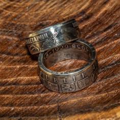 Verighete / inele din monede argint vintage/antice handmade
