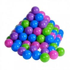 Set 100 bile colorate copii 3+ ani Pastel
