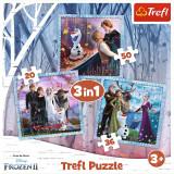 PUZZLE TREFL 3IN1 FROZEN2 REGATUL DE GHEATA
