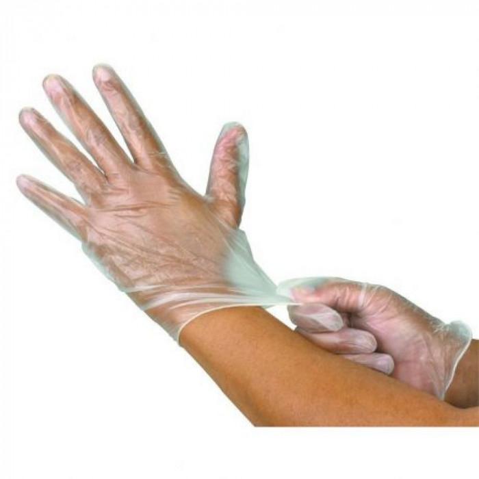 Manusi de unica folosinta marimea M, albe, 100 bucati/cutie
