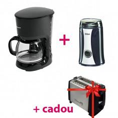 Pachet Promo - Cafetieră ART 750W + Râșniță Electrică + CADOU Prăjitor de Pâine Inox