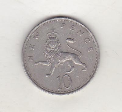 bnk mnd Marea Britanie Anglia 10 pence 1970 foto