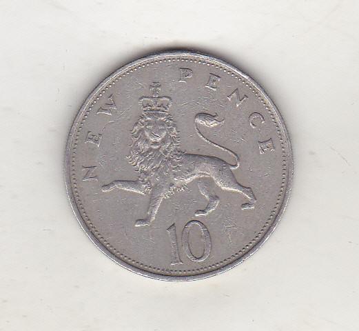bnk mnd Marea Britanie Anglia 10 pence 1970