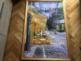 Tablou,pictura in ulei pe panza,Cafe terrace,reproducere Van Gogh
