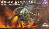 Machetă elicopter AH-6A NIGHT FOX. Scout helicopter (1:72) Neasamblat, complet!