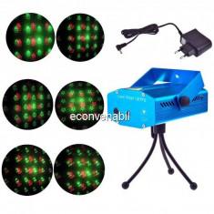 Laser Proiector Figurine Craciun Jocuri de Lumini Rosu Verde YX6H