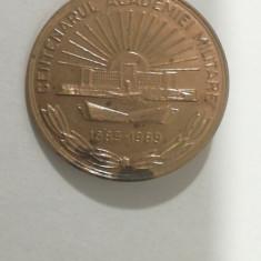 BIMR 45 - INSIGNA - MILITARA - ACADEMIA MILITARA - 100 ANI - 1989