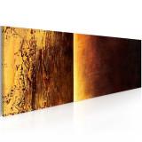 Tablou pictat manual - Doua texturi - 100 x 40 cm, Artgeist