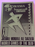 Carte sport - Jocurile Mondiale ale Surzilor (Bucuresti 17 - 27.07.1977)