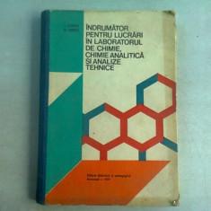 Indrumator pentru lucrari in laboratorul de chimie, chimie analitica si analize tehnice - I. Tomita
