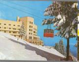 CPI B 12282  CARTE POSTALA - SINAIA. HOTELUL ALPIN COTA 1400, TELECABINA, IARNA